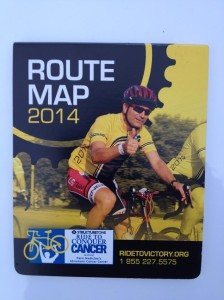Ride To Conquer Cancer Route Map 2014